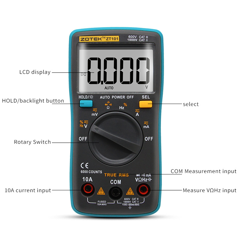Image 3 - ZOYI Digital Multimeter ZT98/100/101/102 True RMS Auto Range Multimetro Voltmeter Ammeter Capacitance Temperature Hz  NCV Tester-in Multimeters from Tools