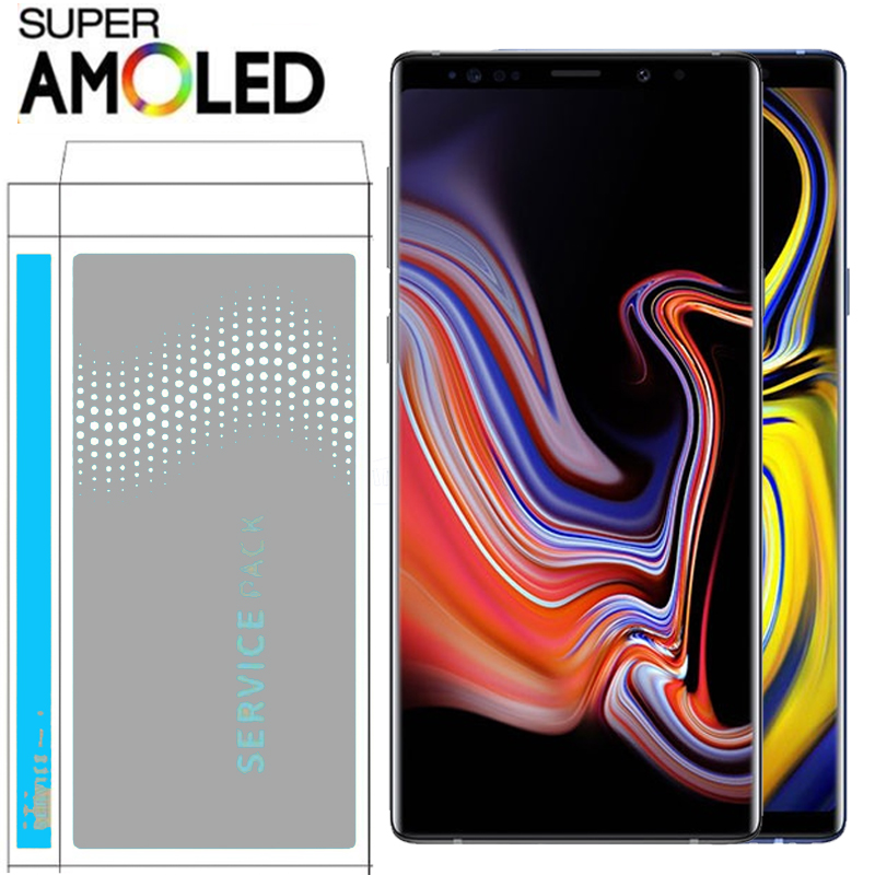 100 ORIGNAL 6 4 LCD with Frame for SAMSUNG Galaxy Note 9 Note9 Display N960F N960D