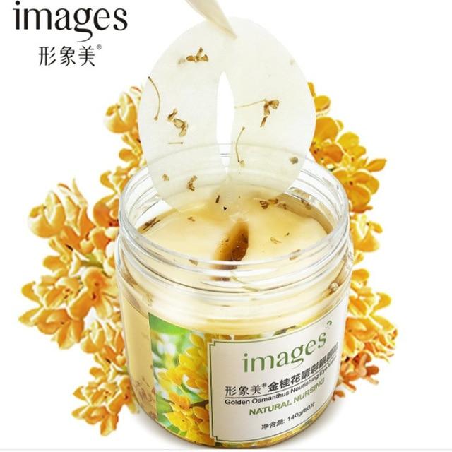 Images Golden osmanthus eye mask eye care moisturizing nourishing collagen eye mask remove dark circles