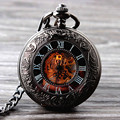 2015 New Cool Hand Wind Mechanical Pocket Watch Skeleton Watches Fashion Men Watch Vintage Pocket Watch
