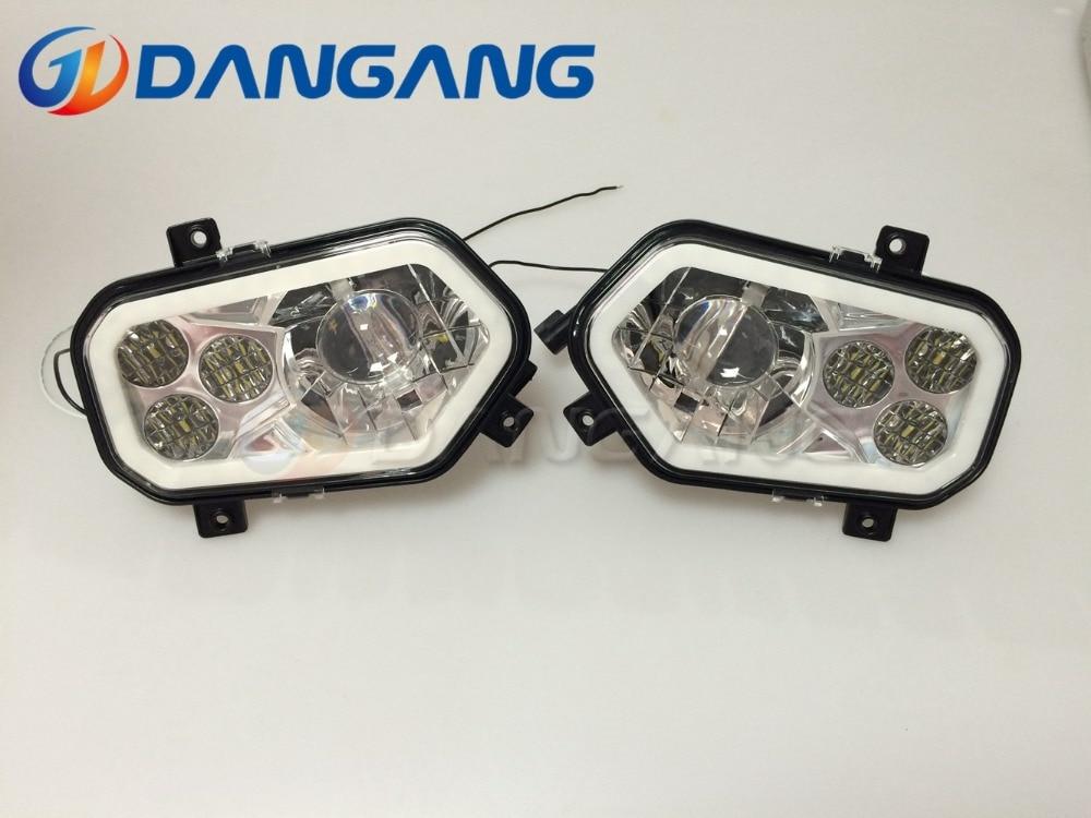 Pair Polaris Scrambler RZR Sportsman Ranger LED Conversion Headlight Kit