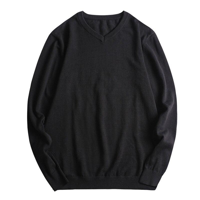 100% Baumwolle Große Größe L-8xl Mann Langarm V-ausschnitt Strickwaren Grau Pullover Männlichen Gestrickte Kleidung Herbst Frühling Männer Pullover SchöN Und Charmant