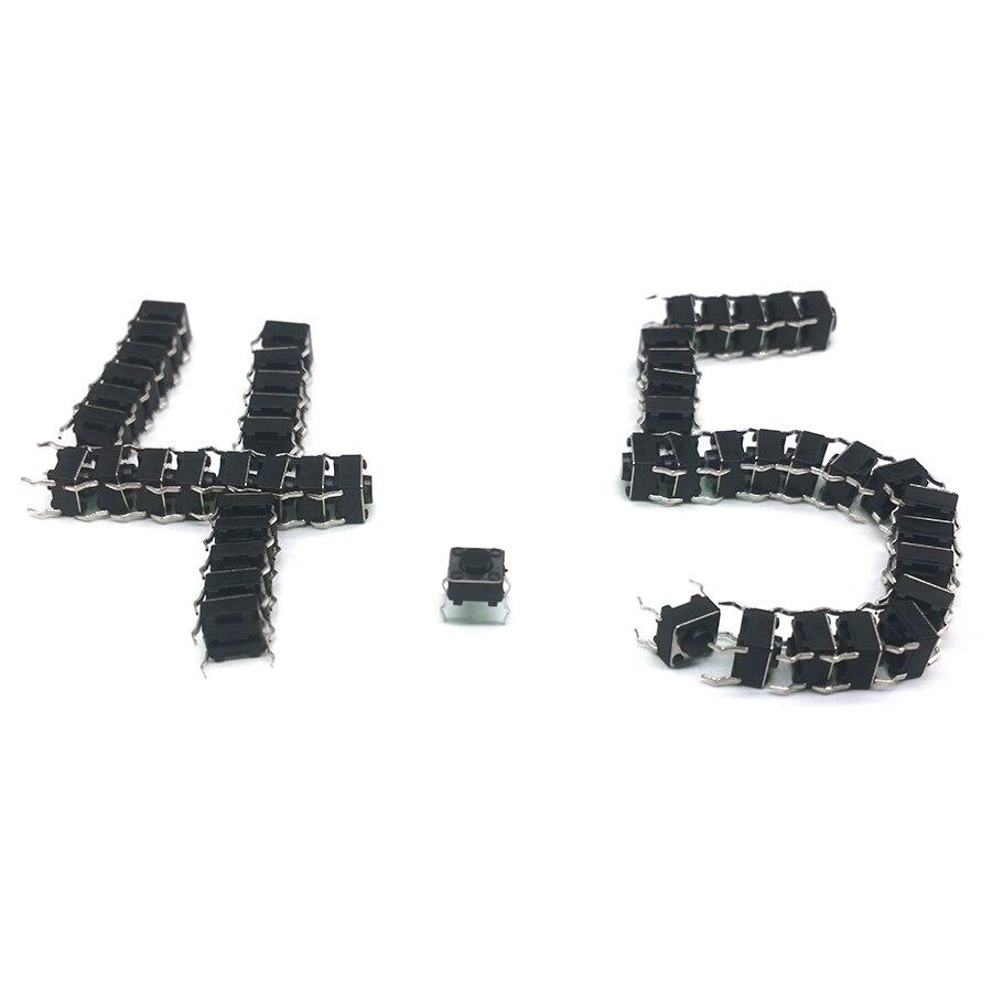 Охраны окружающей среды 50 шт./лот 6*6*4,5 мм прерыватель 4 PIN Тактильные Такт кнопочный переключатель Микро Переключатель самовозвр Топ DIP