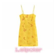 Summer dress 2018 yellow sexy beach elegant women floral boho mini vestidos kawaii bodycon korean fashion Laipelar