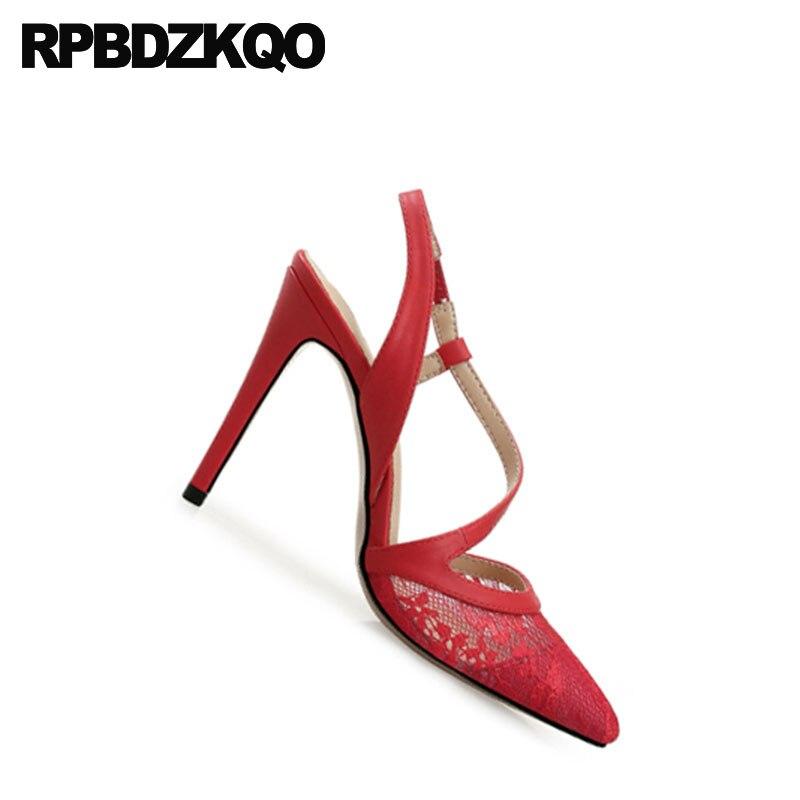 ... Pointed Toe Slingback Bridal Shoes Wedding 11 43 Size 33 High Heels  Pumps. sku  32880907637 ade4d6b7bb85