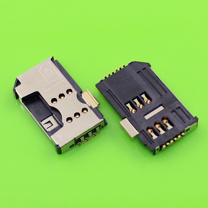 ChengHaoRan 1piece/lot High quality mobile phone sim card holder socket slot tray replacement adapters.KA-013 ...