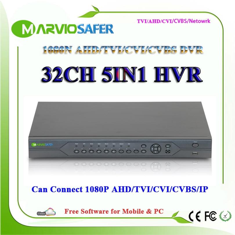 32ch 32 canais AHD DVR CVI TVI AVR XVR AHD-NH 1080N Gravador de Vídeo HD 1080 P Saída HDMI CCTV AHD Câmera CVI TVI gravador