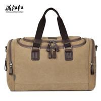Manjianghong Brand men's travel bag men canvas business travel duffle casual high capacity quality handbag