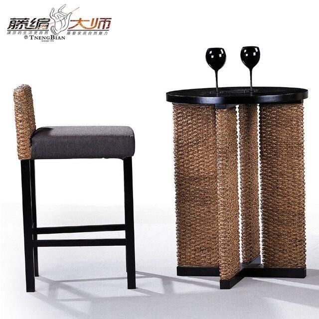 Maestro de Asia e Indonesia de caña de ratán muebles del hotel bar ...