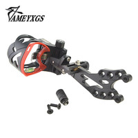 1 Set JUNXING AXT4 Archery Compound Bow 5 Pin Sight With Aiming Light Adjustable Fiber Assisted Aiming Hunting Shooting