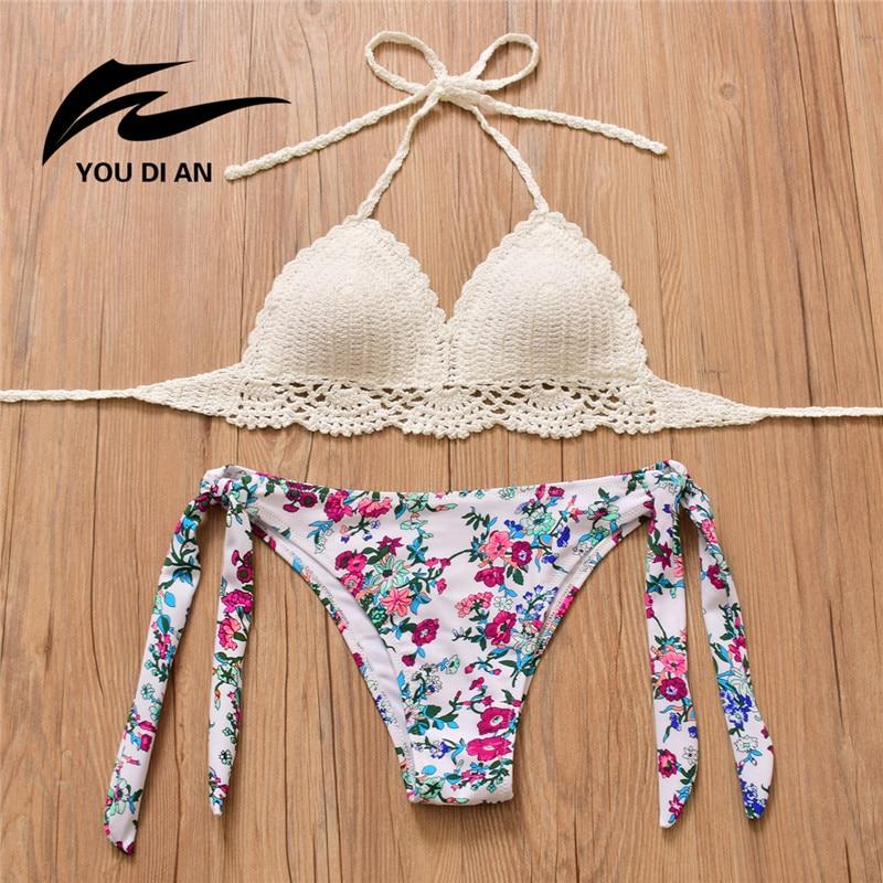 Donne Bikini All\'uncinetto Fatti A Mano A Maglia Costume Da Bagno ...