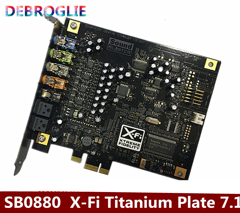 US $58 88 | Free transportation SB0880 Sound Card X Fi Titanium Plate 7 1  Game PCI E sound card-in Computer Cables & Connectors from Computer &  Office