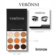 VERONNI Make Up 9 Colors Professional Eyeshadow Palette Glitter Matte Makeup Eye Shadow Maquillage Cosmetics