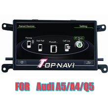 """Free Shipping  6.5"""" Wince Car Stereo GPS For A4 (B7 2005-2008) Q5(8R 2008–) for Audi With Bluetooth Free Map Navigation"""