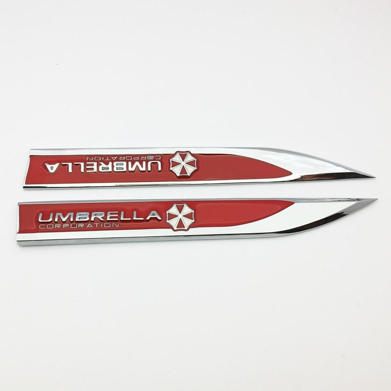 Image 5 - 1 pair 3D Metal Car Styling Hot Sale UMBRELLA CORPORATION Sticker Side Emblem Badge Auto Body decoration Decal Car Styling-in Car Stickers from Automobiles & Motorcycles