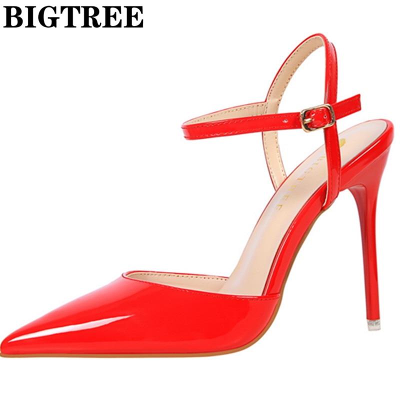 Women Sandals 2017 Brand Designer Gladiator High Heels Sexy Strap Point Toe Summer Shoes Woman Weeding Pumps Ladies Sandalias