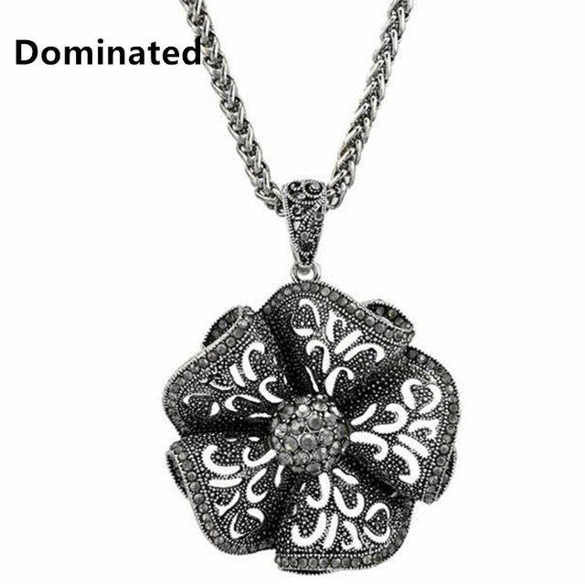 2016 New Arrival Women Pendant Necklaces  Flower All-match Necklace Female Long Winter Sweater Chain Pendant Accessories