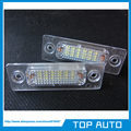 2 Pcs LED License Plate Luz Para Volkswagen VW Touran 1 T SKODA Superb MK1 Caddy Passat MK3 Golf Plus 1 K 3U B5