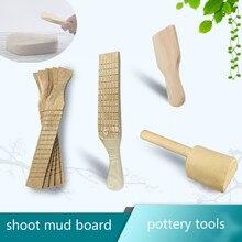 Твердая деревянная поверхность окрашенная грязевая доска керамические глиняные инструменты Мягкая глиняная Керамика инструменты