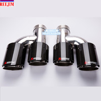 In 2.5 Out 3.5 Stainless Akrapovic Carbon Exhaust Tip for Audi A6 A7 A5 GTI car styling Akrapovic exhaust tip tailpipe
