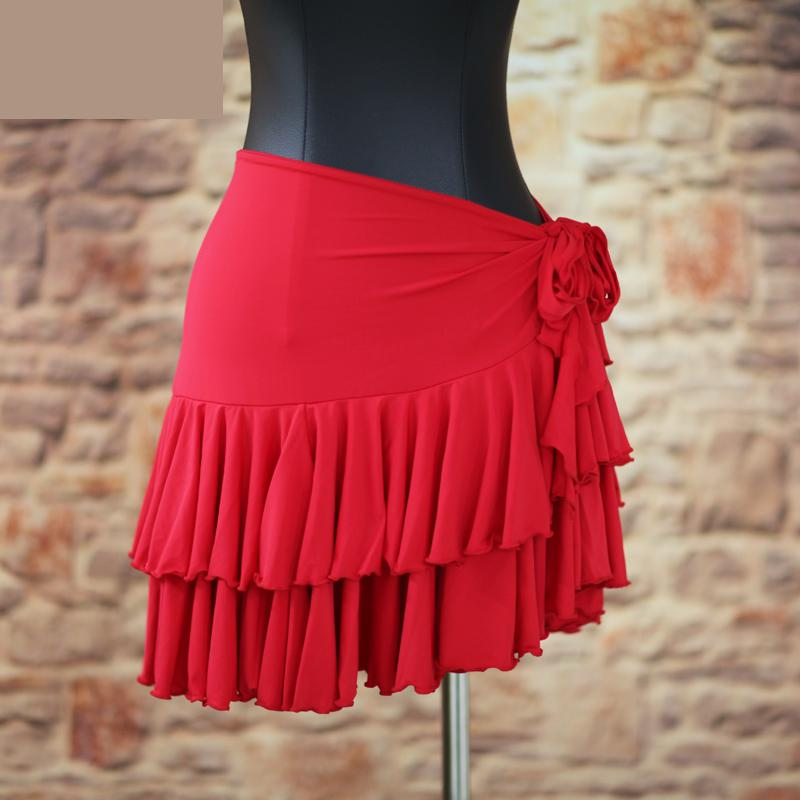 Lady Latin Dance Skirt Lacing Classic Adult Cha Cha/rumba/samba/tango Dresses For Dancing Practice/performamnce Dancewear