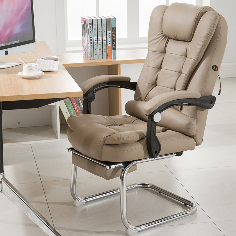 Office Chair Cadeira Bow Foot Home Computer Gaming Chair Massage Function Silla Oficina Cadeira Gamer Chaise Sillon