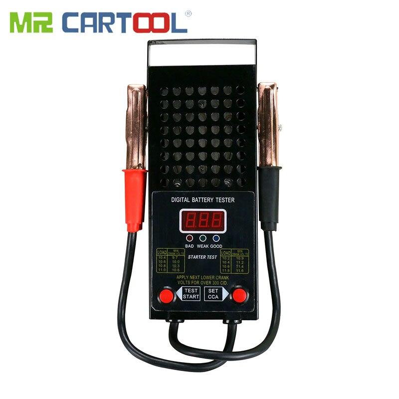 BT007T Car Battery Tester Digital Analyzer Load 12V Car Light Truck Motor Auto Engine Volume 125Amp Tests Alligator Clip CCA