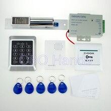 Полная система контроля доступа RFID дверь 157 модель + питание + электронный домофоны + двери кнопка выхода + дверной звонок + брелки + ID карты