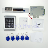 Full RFID Door Access Control System T11 Model Power Supply Electronic Bolt Lock Door Exit Button