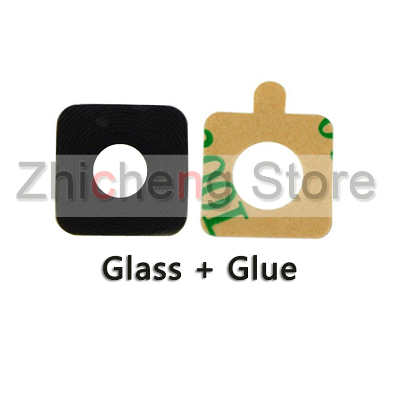 Original Back Camera Glass Ring Cover Lens For Samsung Galaxy S4 S5 S6 S7 Edge S8 Plus With Sticker Phone Repair Parts image