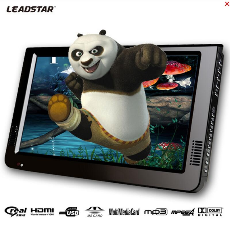 LEADSTAR New HD Portable TV 10 Inch Digital And Analog Led Televisions Support TF Card USB Audio Car Television DVB-T DVB-T2 7 inch portable led tv television dvb t mpeg4 pvr black