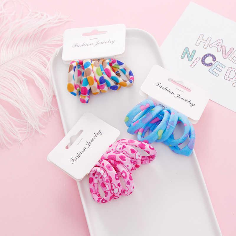 6PCS/Sett Cute Girls Cartoon Elastic Hair Bands Children Scrunchies Ponytail Holder Rubber Bands Headbands Kids Hair Accessories