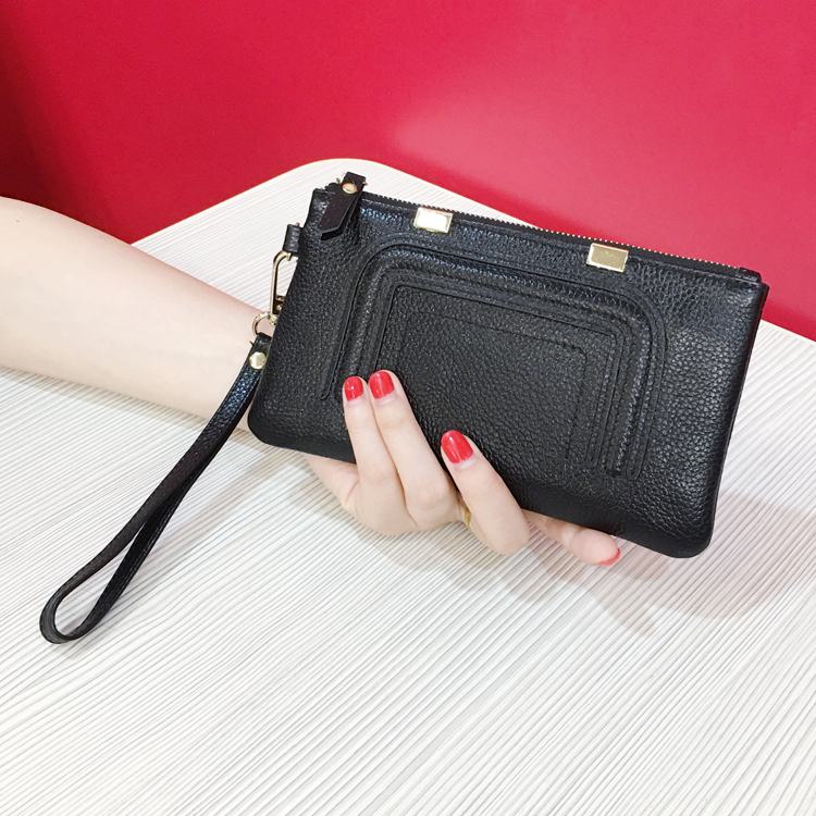 free shipping new fashion brand women's long wallet ladies purse money bag can put in iphone 6 plus 100% genuine cowhide leather free shipping new fashion brand women s long wallet purse clutches lady money clip coin phone bag 100