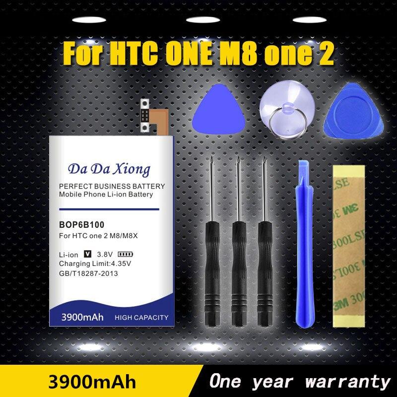 Alta qualidade 3900 mah b0p6b100 bop6b100 li-ion bateria do telefone para htc um m8 um 2 m8t m8d m8d e8 m8sw m8st m8sd bateria