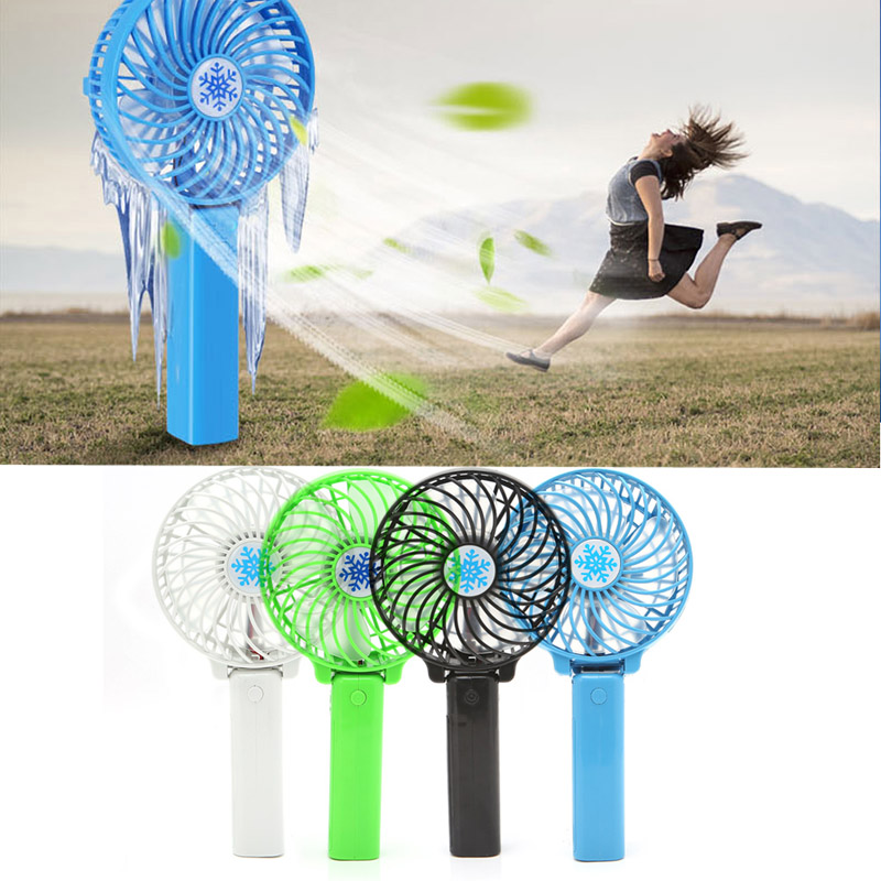 Foldable Handheld Mini Fan USB Power Rechargeable Battery Operated Hand Bar Fans