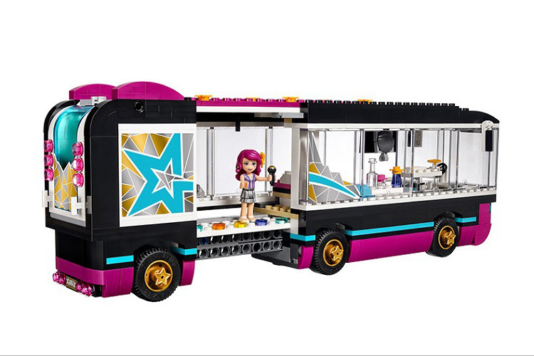 Friends Pop Star Tour Bus Building Blocks Friends Figures Bricks Toys for Children Model Toys Gift in Blocks from Toys Hobbies