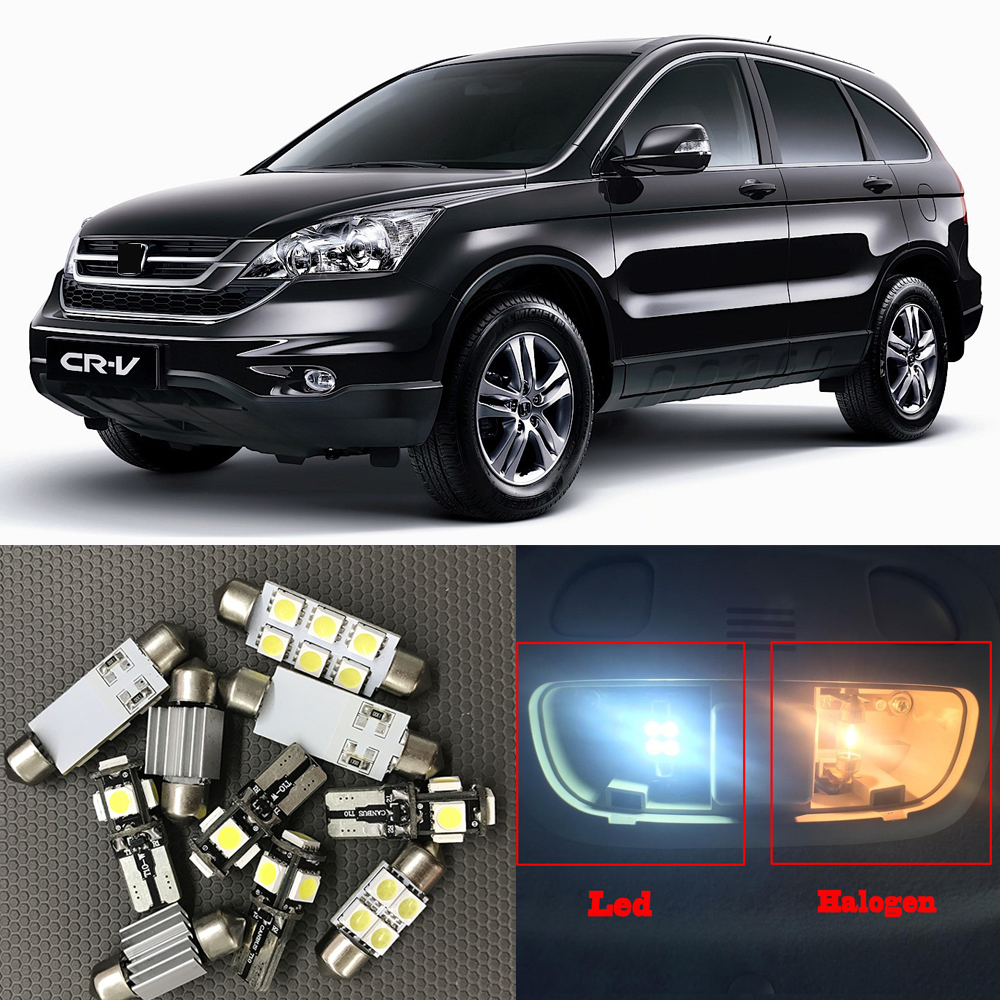 Honda Cr V License Plate Light Replacement Wiring Harness 2007 8x White Auto Interior Led Bulbs Kit For 2012 Rhaliexpress