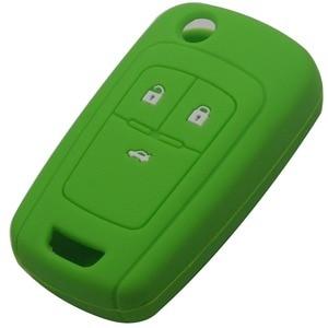 Image 5 - Jingyuqin מרחוק סיליקון רכב מפתח Case כיסוי עבור שברולט Cruze מחזיק 3 כפתורי גומי Flip מתקפל מפתח מגן