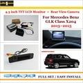 """Para Mercedes Benz GLK Classe X204-4.3 """"TFT LCD Monitor + Retrovisor Do Carro Back Up Camera = 2 em 1 Sistema De Estacionamento"""