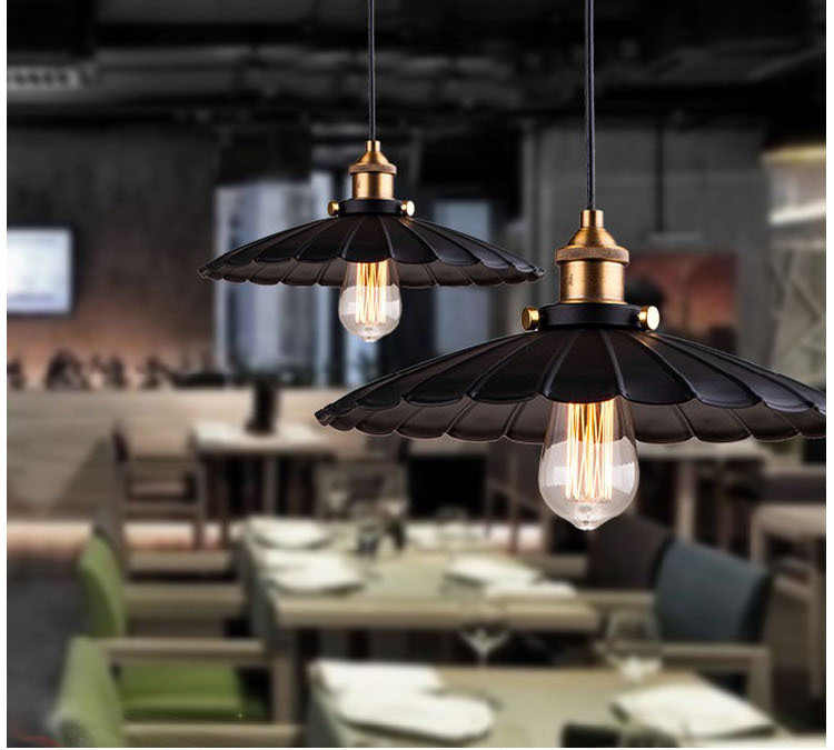 Nordic simplicity Metal umbrella chandelier Loft Industrial Pendant Lights for Dining Room Kitchen Bar Rustic warehouse retroNordic simplicity Metal umbrella chandelier Loft Industrial Pendant Lights for Dining Room Kitchen Bar Rustic warehouse retro