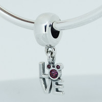 Compatible With Pandora Beads Minnie Pave 100 925 Sterling Silver Beads Latest Fashion Genuine Charm Diy