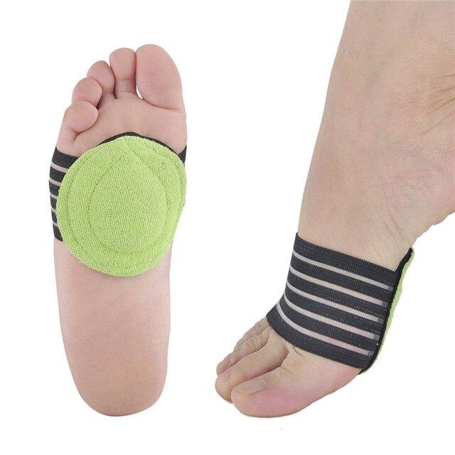 1 par de fascitis Plantar arco talón ayuda pies cojín manga almohadilla arco apoyo plantillas ortopédicas talón alivio del dolor choque ortopédico