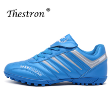 цена на New Arrival Soccer Shoe for Turf Football Breathable Kids Football Shoes Non-Slip Boy Tf Indoor Soccer Brand Mens Sports Shoes