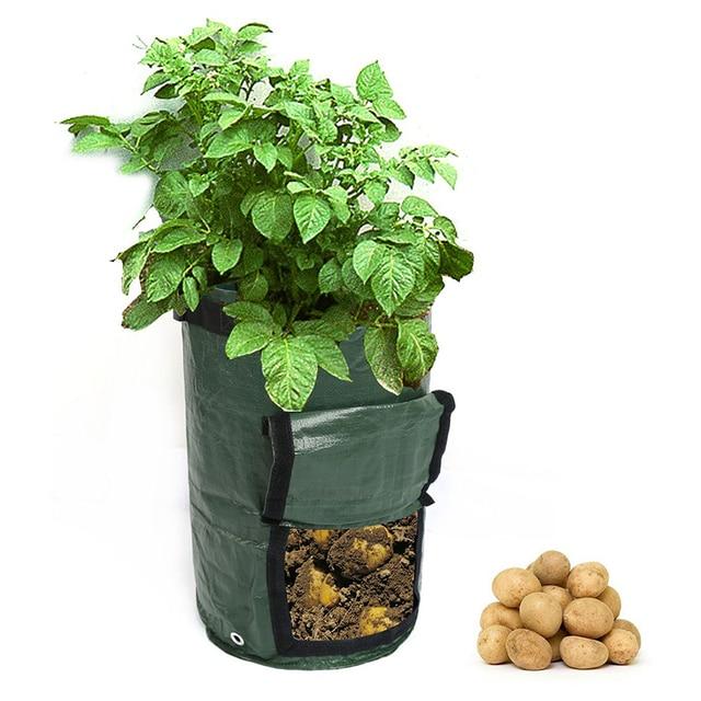 Potato Planting PE Bags Cultivation Garden Pots Planters Vegetable Planting Bags Grow Bags Farm Home Garden Supplies 5
