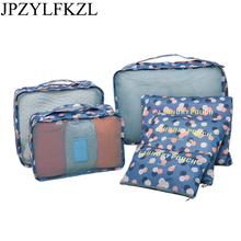 2019 Hot Sale Travel Organizer 6Pcs/Set Storage Bag Set Clothes Bags Pouch Suitcase Home Closet for