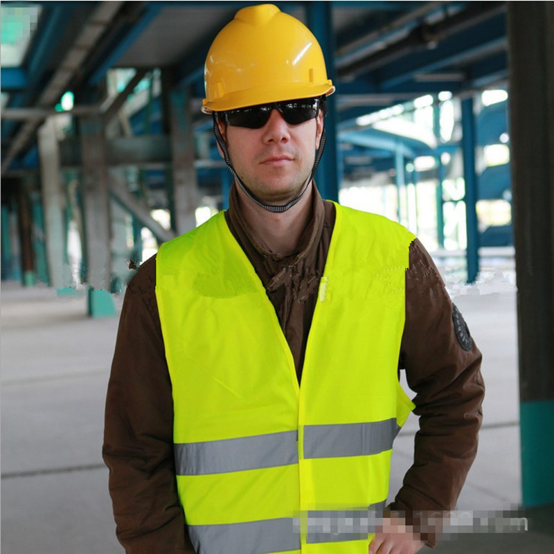 Highlight Reflective Vest Yellow Vest Knit Fabric Reflective Safety Night Cycling Traffic Warning Working Clothes Fluorescent