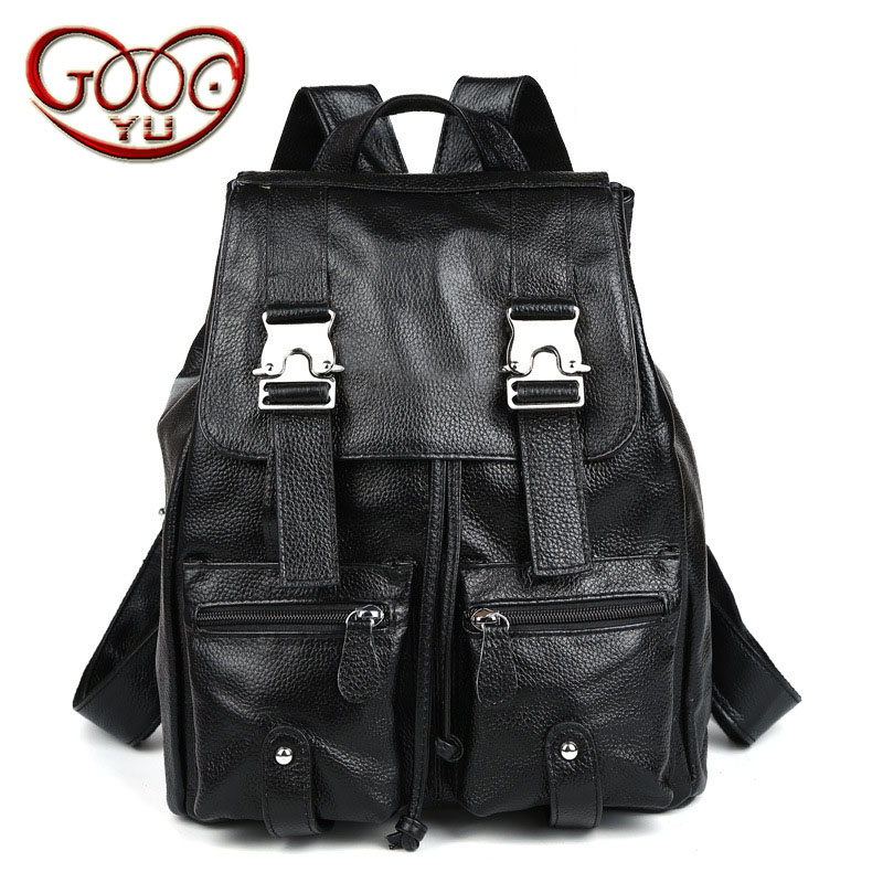 Korean fashion college wind ladies leather backpack vertical section three-dimensional leisure travel backpack