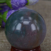 "(1.6"")40MM Natural Gemstone India Agate Sphere Crystal Globe Ball Chakra Healing Reiki Stone Carving Crafts W/Stand"