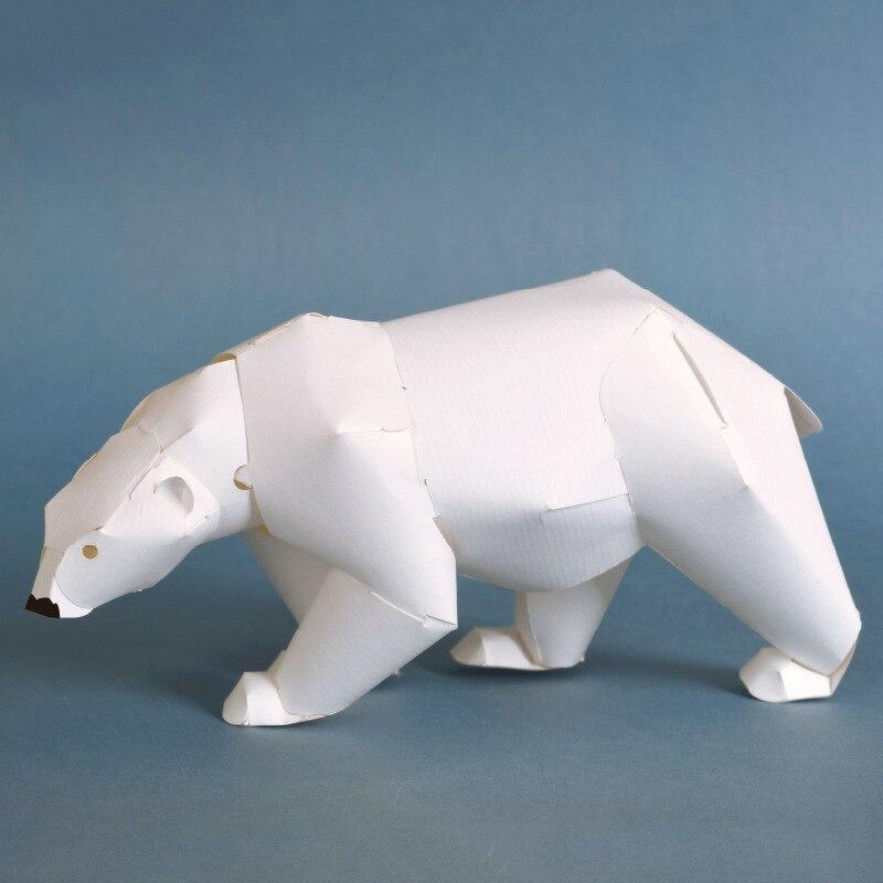 Easy Origami Bear Panda Bear DIY Paper Polar Bear DIY - YouTube | 800x800