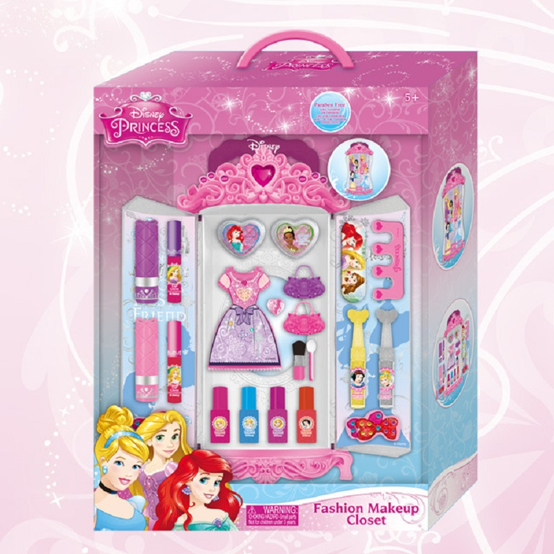 Disney princess kids makeup wardrobe makeup combination birthday gift play house toy girl child makeup dress stage girls toys
